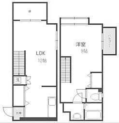 JR香椎線 和白駅 徒歩7分の賃貸マンション 1階1LDKの間取り