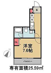 東京メトロ有楽町線 月島駅 徒歩3分の賃貸マンション 5階1Kの間取り