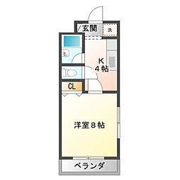 愛知県豊橋市飯村町字北池上の賃貸アパートの間取り