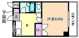 ロータリーマンション香里北之町[2階]の間取り