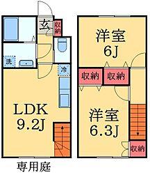 [テラスハウス] 千葉県市原市五井 の賃貸【/】の間取り