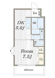 エムズレジデンス城東中央[505号室]の間取り