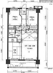 アンピール箱崎東2[5階]の間取り