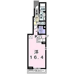 愛知県豊橋市下地町字横山の賃貸アパートの間取り