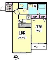 山王・兆(KIZASHI)[106号室]の間取り