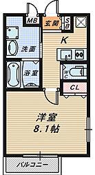 大阪府堺市堺区西永山園の賃貸アパートの間取り
