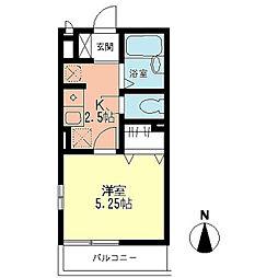神奈川県横浜市神奈川区神大寺4丁目の賃貸アパートの間取り