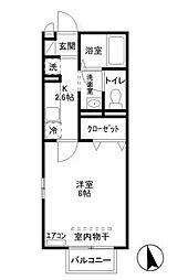 プランドール(三光町)[2階]の間取り