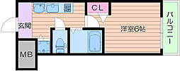 プレミアムコート天神橋エイト[2階]の間取り