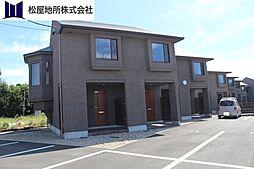 愛知県田原市大久保町黒河の賃貸アパートの外観