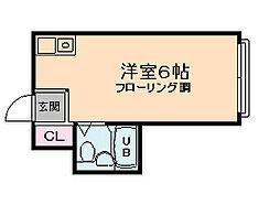 昭和グランドハイツ西九条[3階]の間取り