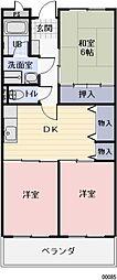 長野県松本市筑摩1丁目の賃貸マンションの間取り