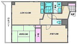 ベリタスビル[5階]の間取り