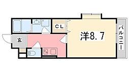 MISTRAL姫路東駅前[5階]の間取り