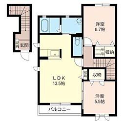 グランコート21[2階]の間取り