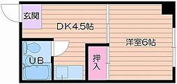 マンションKLM[3階]の間取り