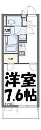 芝富士ハイツ 3階1Kの間取り