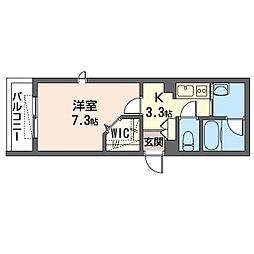 仮)川崎区新川通シャーメゾン 1階1Kの間取り