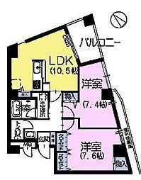 エスペロー平和台[3階]の間取り