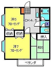 プラムガーデンB[203号室]の間取り