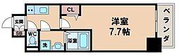 エスライズ天王寺EAST 12階1Kの間取り