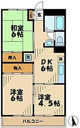 東京都多摩市落合1丁目の賃貸マンションの間取り