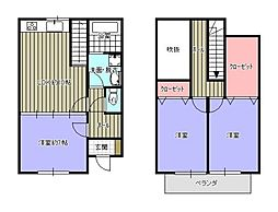 [テラスハウス] 福岡県久留米市小森野2丁目 の賃貸【/】の間取り