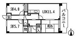 第2みなもとマンション[3階]の間取り