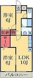 千葉県市原市国分寺台中央5丁目の賃貸アパートの間取り