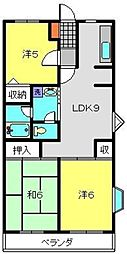 コーポフェニックスB[305号室]の間取り