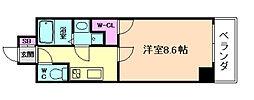 ODESSA福島[4階]の間取り
