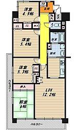 ファミール京橋[13階]の間取り