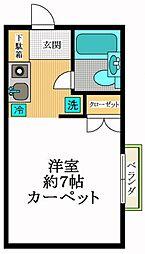 東京都港区西麻布2丁目の賃貸アパートの間取り