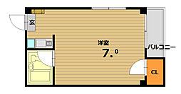 ベル板宿II[3階]の間取り