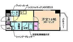 阪神本線 姫島駅 徒歩8分の賃貸マンション 4階1Kの間取り