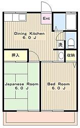 神奈川県横浜市瀬谷区宮沢1丁目の賃貸アパートの間取り