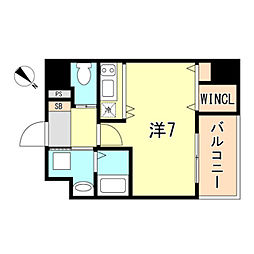 JR東海道・山陽本線 神戸駅 徒歩10分の賃貸マンション 10階ワンルームの間取り