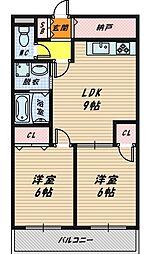 シャトーニッコー[5階]の間取り