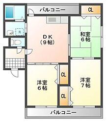 ファンタジー緑丘 B棟[2階]の間取り