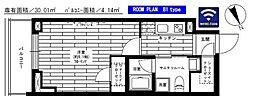 グランドコンシェルジュ六本木 16階1Kの間取り