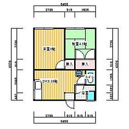 田中アパート[102号室]の間取り