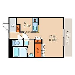 滋賀県愛知郡愛荘町長野の賃貸マンションの間取り
