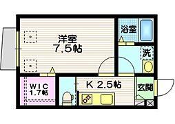 仮称 西尾久5丁目メゾン 1階1Kの間取り