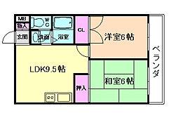 グレートハイツ5号館[2階]の間取り