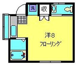神奈川県横浜市磯子区滝頭3丁目の賃貸アパートの間取り