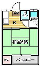 ラフィーネ南福岡 [202号室]の間取り