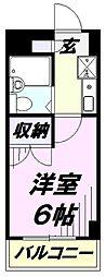 埼玉県所沢市大字北秋津の賃貸マンションの間取り