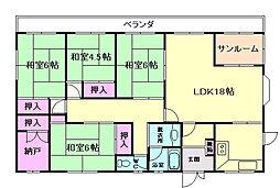 大阪府豊中市刀根山3丁目の賃貸マンションの間取り