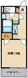 東武東上線 高坂駅 徒歩14分の賃貸マンション 1階1Kの間取り