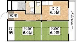 フレンズマンション[4階]の間取り